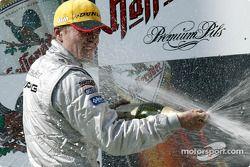 Podium: Champagne Marcel Fässler, Team HWA, AMG-Mercedes CLK-DTM 2003