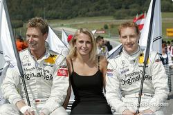 Fahrerpräsentation: Bernd Mayländer, Persson Motorsport, AMG-Mercedes CLK-DTM 2002 und Thomas Jäger,