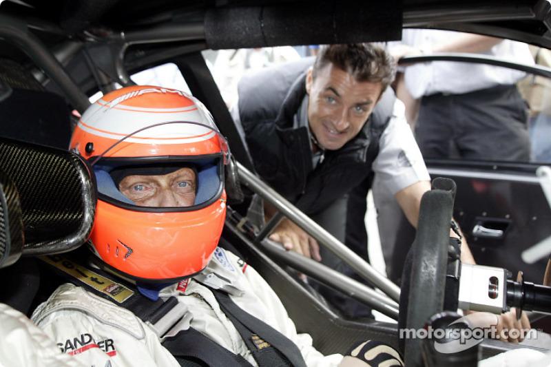 Ники Лауда и Жан Алези на этапе DTM в 2003 году