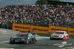Marcel Fässler, Team HWA, AMG-Mercedes CLK-DTM 2003 und Bernd Schneider, Team HWA, AMG-Mercedes CLK-