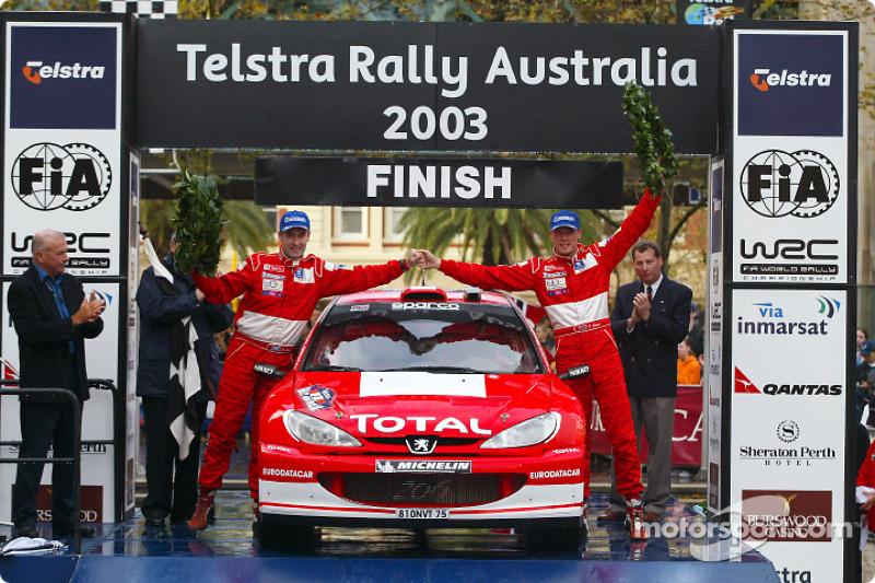 Ричард Бёрнс и Роберт Рид, Peugeot 206 WRC, Ралли Австралия 2003