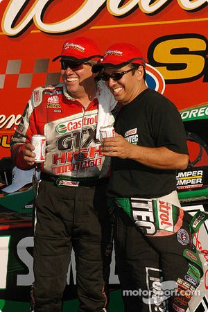 John Force and Tony Pedregon