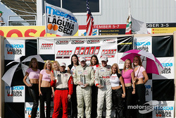 Speed GT Podium: 1st, Paul Mumford, 2nd, Bill Auberlen, 3rd, Randy Pobst