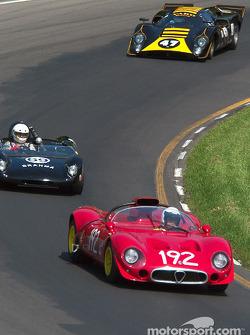 La #192 Alfa Romeo 33/2 de 1967, détenue par Joe Nastasi, devance la #69 Brahma 23 détenue par George Nelson et la #47 Lola T70 Mk IIIb de 1969, détenue par Kenne Bristol