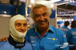 Jarno Trulli et Flavio Briatore