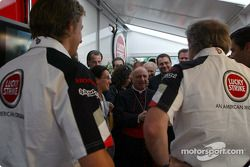 Jenson Button ve David Richard ve Cardinale Tettamanzi