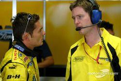Giancarlo Fisichella et son ingénieur de course Rob Smedley