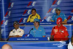 Jueves conferencia de prensa de la FIA: Juan Pablo Montoya, Fernando Alonso, Michael Schumacher, Giancarlo Fisichella
