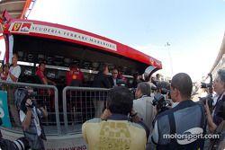 Luca di Montezemolo, Ferrari pitwall