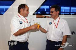 BMW Motorsport Direktör Gerhard Berger retirement party: Gerhard Berger ve Dr Mario Theissen