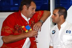 BMW Motorsport Direktör Gerhard Berger retirement party: Gerhard Berger ve Juan Pablo Montoya