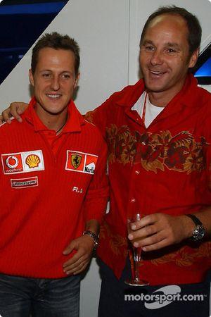 BMW Motorsport Direktör Gerhard Berger retirement party: Michael Schumacher ve Gerhard Berger