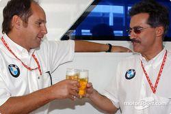 BMW Motorsport Direktör Gerhard Berger retirement party: Gerhard Berger ve Dr Mario Theissen, 'This