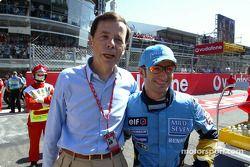 Renault Yönetim Kurulu Başkanı Louis Schweitzer ve Jarno Trulli