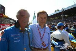Flavio Briatore and Renault chairman Louis Schweitzer