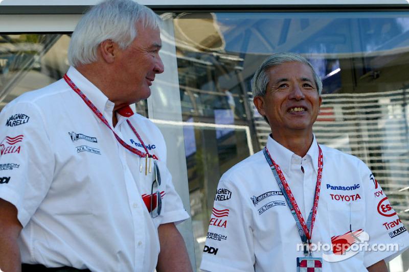 Ove Andersson et Akihiko Saito, EVP Toyota Motor Corporation