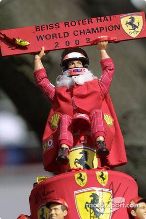 Sombrero de campeón del mundo de Michael Schumacher 2003