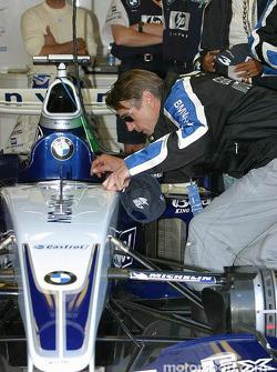 Jeremy Irons, invité par Williams-BMW
