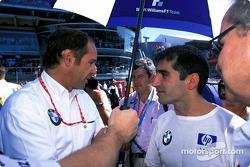 Gerhard Berger et Marc Gene sur la grille de départ