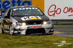 Even Craig Lowndes had difficulties handling the wet conditions