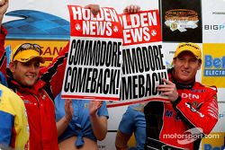 Todd Kelly and Mark Skaife glad to be back on the podium