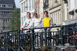 Pressekonferenz in Zandvoort: Peter Terting, Abt Sportsline Juniorteam, Abt-Audi TT-R 2002; Christij