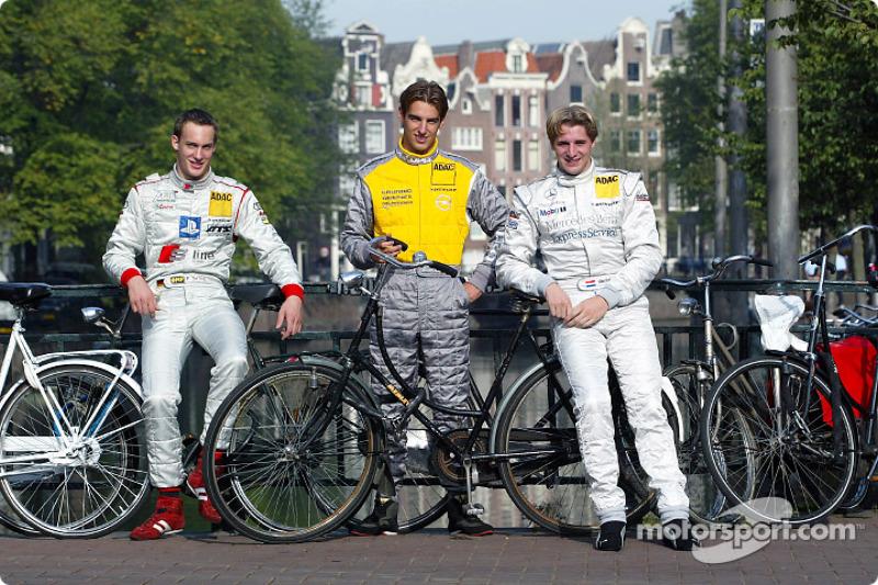 Persconferentie in Zandvoort: Jeroen Bleekemolen, Peter Terting en Christijan Albers