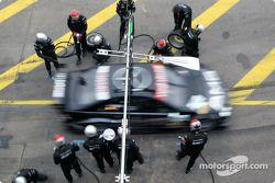 Boxenstopptraining für Jean Alesi, Team HWA, AMG-Mercedes CLK-DTM 2003