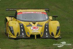 La #70 SpeedSource Ford Multimatic de Sylvain Tremblay, Selby Wellman et Paul Mears Jr. s'arrête