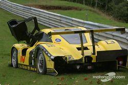 Des dégâts sur la #70 SpeedSource Ford Multimatic de Sylvain Tremblay, Selby Wellman et Paul Mears Jr