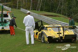 Opération de secours pour la #70 SpeedSource Ford Multimatic de Sylvain Tremblay, Selby Wellman et Paul Mears Jr
