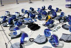 Williams-BMW pit ekibi equipment
