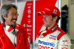 General manager of motorsport division at Toyota with Cristiano da Matta