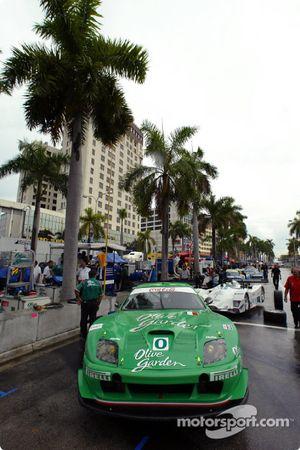 American Le Mans Series teams prepare their cars for battle