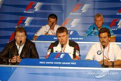 Conférence de presse de la FIA : Norbert Haug, Otmar Szafnauer, Dr Mario Theissen, Ange Pasquali et Pat Symonds