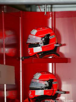 Michael Schumacher's helmets