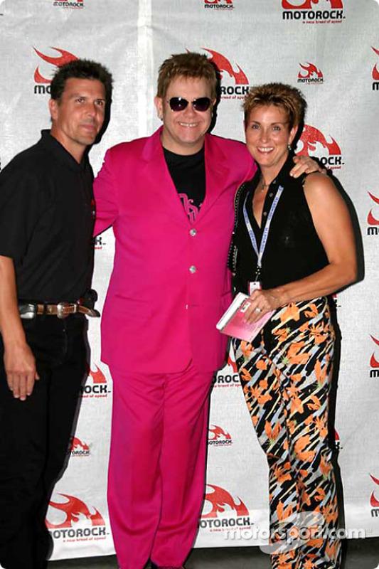 Concert d'Elton John : Scott Pruett et Elton John