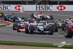 Start: Ralf Schumacher ve rest, field