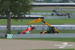 Rubens Barrichello out