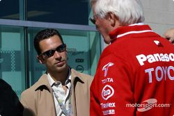 Helio Castroneves and Ove Andersson
