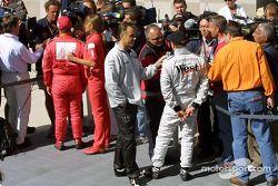 Des interviews pour le poleman Kimi Räikkönen
