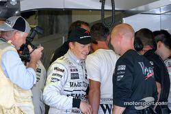 Kimi Raikkonen celebra su pole position