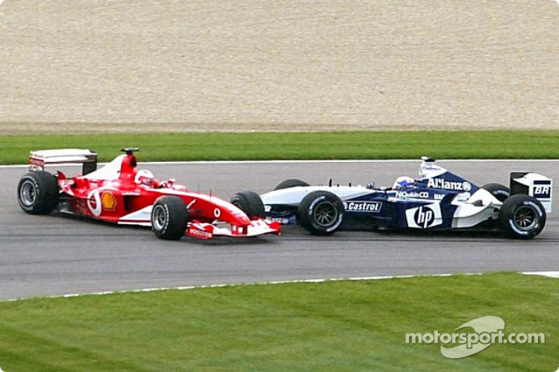 Barrichello esteve presente em um momento importante da disputa em 2003. Nos EUA, o brasileiro segurou Montoya, postulante ao título, e acabou sofrendo um toque. Com a punição e uma corrida pouco competitiva, o colombiano deixou a disputa pelo título.