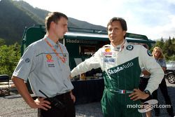 Denis Giraudet discute avec Pavel Pokorny