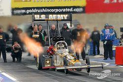 Tony Schumacher took the pole in Top Fuel