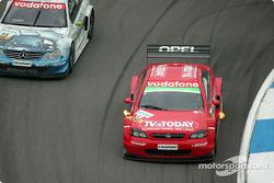 Bernd Mayländer, Persson Motorsport, AMG-Mercedes CLK-DTM 2002; Peter Dumbreck, OPC Team Phoenix, Op