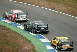Bernd Schneider, Team HWA, AMG-Mercedes CLK-DTM 2003; Marcel Fässler, Team HWA, AMG-Mercedes CLK-DTM