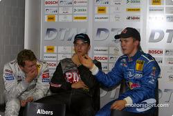 Mattias Ekström, Timo Scheider and Marcel Fassler