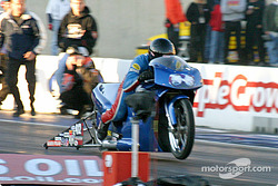 Michael Phillips takes the victory in Pro Stock Bike
