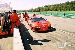 Arrêt au stand pour la #33 Scuderia Ferrari of Washington Ferrari 360GT de Cort Wagner et Brent Mart